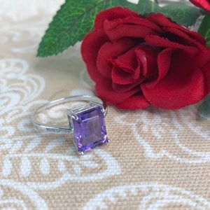 Kaki Jo's Closet Jewelry - Amethyst Sterling Silver Ring